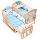 简魅婴儿床多功能bb宝宝床实木无漆摇篮新生儿可移动送体验金的电子游戏平台拼接大床